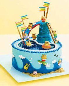 Fun homemade children's birthday cake