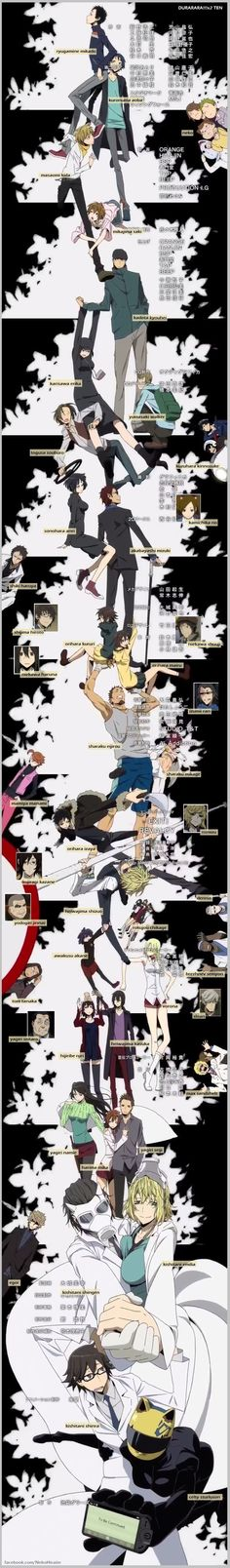 Durarara!!!x2 Ten | Characters with names