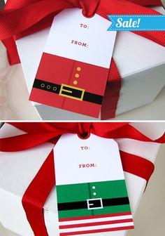 Christmas Gift Tag Christmas Printable Santa gift by EllisonReed, $5.00