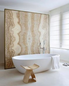 What a great way to feature stone in your bathroom.  #Repost @theinvisiblecollection  Fall in love with this bathroom by Fabrice Ausset & view more on #theinvisiblecollection #homewithasoul #designisart