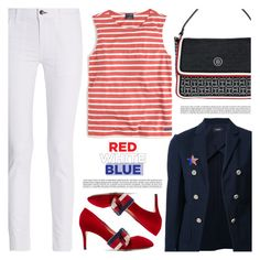 """""""Fourth of July"""" by arohii ❤ liked on Polyvore featuring rag & bone, Theory, Tommy Hilfiger, Gucci and fourthofjuly"""