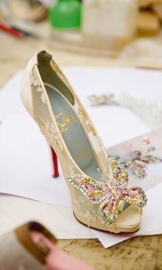 Chaussures papillon / #chaussures #shoes #mariee #bride #mariage #wedding #papillon #butterfly
