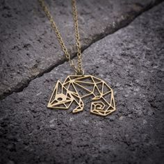 Pascal - tangled geometric necklace