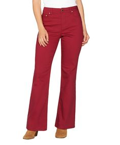 Rumba Red Flare-Leg Jeans - Petite & Petite Plus