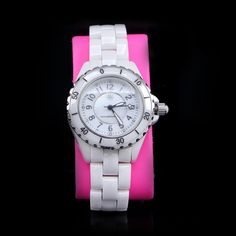 Isaac Mizrahi Live! Ceramic Watch with Mother-of-Pearl Dial White Average $399 #IsaacMizrahi #Fashion
