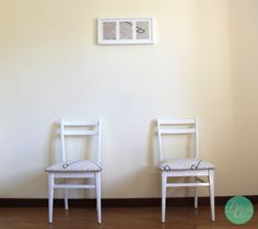 Conjunto quadro + 2 cadeiras 'Diagonal'