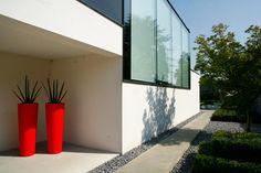 tuinpad beton en kiezels