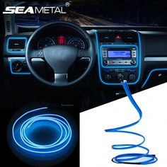 Car LED Cold lights Flexible Neon EL Wire Auto Lamps on Car Cold Light Strips Line Interior Decoration Strips lamps Volkswagen Jetta, Best Car Interior, Car Interior Decor, Interior Design, Interior Window Shutters, Wood Shutters, Car Gauges, Cool Car Accessories, Honda Civic Coupe