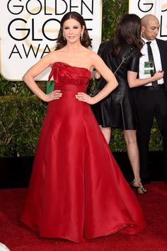 Catherine Zeta Jones Golden Globes 2015   - ELLE.com