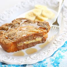 Banana Stuffed French Toast!
