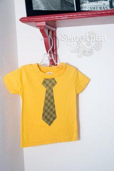 Baylor Colors Tie T-Shirt
