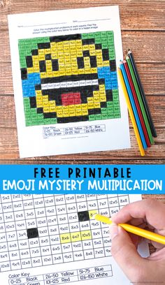 19 FREE Hands-On Multiplication Activities - Blessed Beyond A Doubt Are your students struggling with their multiplication facts? If so, I found the coolest hands-on multiplication activities … Multiplication Chart Printable, Math Multiplication Games, Fun Math Worksheets, Math Coloring Worksheets, Math Activities, Math Fractions, Printable Worksheets, Multiplication Properties, Games