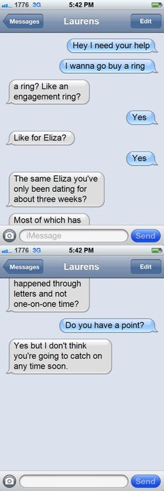 """Two weeks later…"" : Texts from Hamilton"