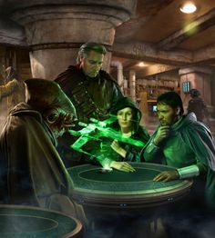 Artwork of Rebel Leaders allying to restore the Republic by uncredited artist