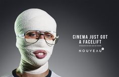 Print advertisement created by South Africa for Cinema Nouveau, within the category: Recreation, Leisure. Indiana Jones, Advertising Campaign, Ads, Ad Of The World, Napoleon Dynamite, Life Aquatic, Almost Perfect, Creative Advertising, Orange