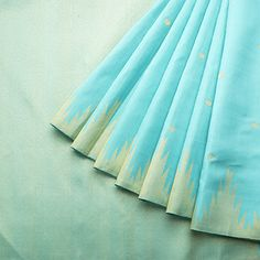 Handwoven Kanjivaram Silk Sari  available Sky Blue, Gold Colour Zari