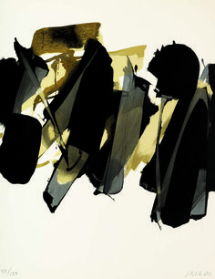 Soulages Lithographie no. 14 1964