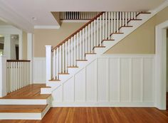Beautiful craftsman style staircase!