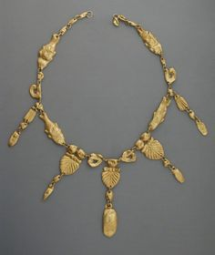 Gold Necklace. Eastern Mediterranean, Probably Etruscan, Hellenistic period (325-50 B.C.). LACMA