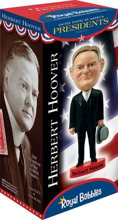 31st President Herbert Hoover #bobblehead collector's box from Royal Bobbles