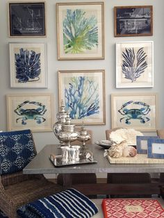 Coastal wall, ART (Waterleaf Interiors) <> (beach, ocean, seashore, nautical, interior decor)