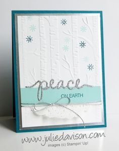 Holiday Catalog Sneak Peek: Christmas Greetings Thinlit + Woodland Embossing Folder | Julie Davison