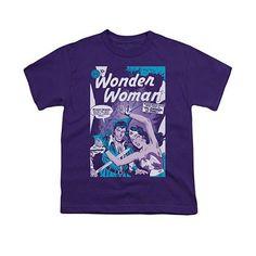 Wonder Woman Human Shield Purple Youth Unisex T-Shirt
