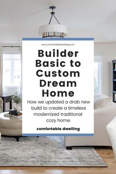 Transform your builder grade home with custom finishes, all on a budget! Take your home from drab to fab with these home decor ideas & inspiration you can do in a weekend or with custom services from an interior designer. Interested? Head to the blog post to find out how we transformed this builder-grade home and added so much character!   builder grade updates   transform a home on a budget   builder grade updates before after   custom dream home   traditional home design   interior decorating Big Living Rooms, Desk In Living Room, Dining Room, Green Bathroom Decor, Modern Bathroom Decor, Traditional Interior, Traditional House, Builder Grade Updates, Home Styles Exterior