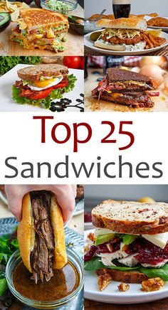 As many of you know, I am a huge fan of sandwiches! A sandwich is defined as two or more slices of bread with one or more fillings and there are just so many possibilities! At this point I have shared well over a hundred sandwich recipes with you and it w Gourmet Sandwiches, Best Sandwich Recipes, Types Of Sandwiches, Sandwiches For Lunch, Healthy Sandwiches, Delicious Sandwiches, Soup And Sandwich, Wrap Sandwiches, Lunch Recipes