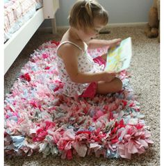 DIY Rug for Kids | Girls Bedroom Decor Ideas | Click for Tutorial