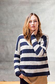 Benton striped boyfriend sweater knitting pattern from Brooklyn Tweed Brooklyn Tweed, Boyfriend Sweater, Men Sweater, Knit Sweaters, Pullover Designs, How To Purl Knit, Knit Purl, Bold Stripes, Weekend Wear