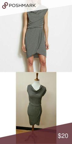 Asymmetrical dress Small striped, cowl neck line, 76% rayon 19% tencel lyocell 5% spandex, lined, A/X Armani Exchange Dresses Midi