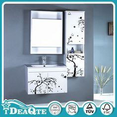 country style hangzhou pvc knock down bathroom vanity cabinet
