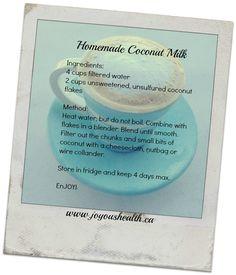 Super Simple Homemade Coconut Milk Recipe