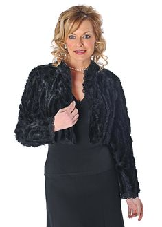 Mink, ribbons and lace - what a spectacular combination! Here in this lovely bolero that is perfect to wear over your party frocks or with a little silk Winter Poncho, Lace Background, Poncho Coat, Party Frocks, Bolero Jacket, Jackets For Women, Feminine, Ruffle Blouse, Ribbons