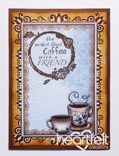 Heartfelt Creations | Coffee With A Friend With Cups