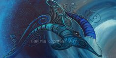 Creative Intuitive from New Zealand Dolphin Painting, Maori Patterns, Nz Art, Maori Art, Watercolor Artwork, Watercolour, Timeline Covers, Painting Inspiration, Color Inspiration