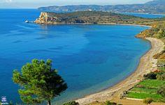 Siderounda's beach. Chios island