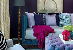 Rich jewel tones can make a room sparkle with sophistication and style. It's a look we're loving these days, and we're not the only ones, judging by the number of requests we&#821…
