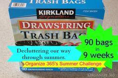 90 Bags in 9 Weeks - Summer Decluttering Challenge | Organize 365