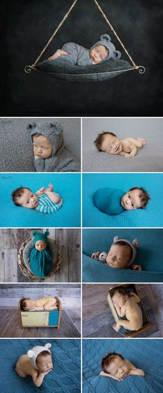 Adorable bear themed newborn photo shoot for a baby boy.  Sunny S-H Photography Winnipeg