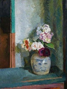 vanessa bell Flowers in a Ginger Jar -