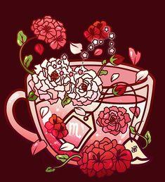 Cute Food Drawings, Cute Kawaii Drawings, Kawaii Art, Wallpaper Iphone Cute, Cute Wallpapers, Medusa Art, Cute Food Art, Zodiac Art, Scorpio Zodiac