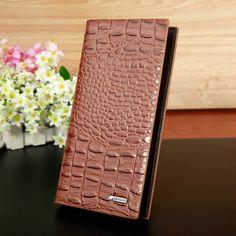 Men Wallets 2016 Fashion Designers Famous Brand Brown pu Leather Money Pocket Men Purses Wallet Credit Card Passport Holder