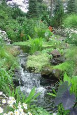 Gorgeous Backyard Ponds and Water Garden Landscaping Ideas (48)