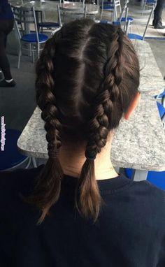 Braid short hair boxer Dutch braid in Boxer Braids Hairstyles, Box Braids Hairstyles For Black Women, Braids For Short Hair, Hairstyle Braid, Hairstyle Ideas, Kendall, Kylie, Blonde Box Braids, Lollapalooza