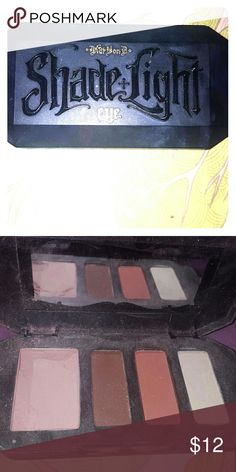 Kat von D shade and light eye in Rust The pallet has for colors a base define contour and highlight the base color does have some chips and it as you can see in the picture and just will reflect in the price. I will not accept any trades on this product Makeup Eyeshadow
