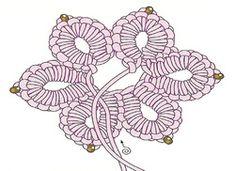 Fleur 4 Mode Crochet, Tatting, Stitch, Pattern, Oui, Crocheting, Craft, Hardanger, Needle Tatting Patterns