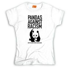 f3bf3577a0dc Pandas against racism t-shirt. We re black