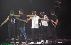 At the last Australia show, they all did what Niall and Louis do at the end of Kiss you hahaha I love them One Direction Live, One Direction Pictures, Liam James, James Horan, Niall Horan, Zayn, Boys Who, My Boys, Irish Boys